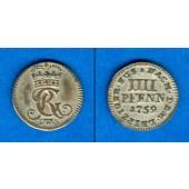 Braunschweig Calenberg Hannover 4 Pfennige 1759 IWS  vz