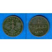 Frankfurt 1 Heller 1849  ss