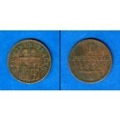 Waldeck Pyrmont 1 Pfennig 1855 A  ss+