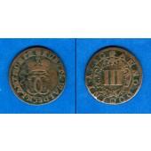 Waldeck 3 Pfennig 1730  f.ss