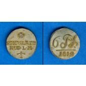 Schwarzburg Rudolstadt 6 Pfennig 1812  vz-st  selten