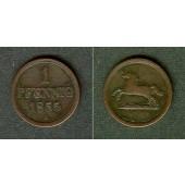 Braunschweig 1 Pfenning 1855 B  ss  selten!