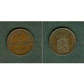 Hessen Darmstadt 1 Pfennig 1870  vz-st