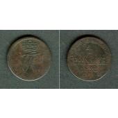 Anhalt Bernburg 4 Pfennige 1823  ss-