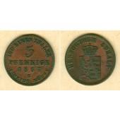 Anhalt 3 Pfennige 1867 B  f.vz