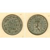 Hessen Darmstadt 1 Kreuzer 1850  ss-vz