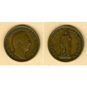 Baden 1 Kreuzer 1844  Großherzog Carl Friedrich  ss