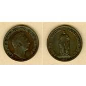 Baden 1 Kreuzer 1844  Großherzog Carl Friedrich  ss+