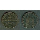 Preussen 4 Pfennige 1847 A  s-ss  selten!
