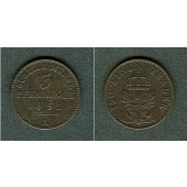 Preussen 3 Pfennige 1851 A  vz-