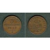 Preussen 3 Pfennige 1853 A  ss+