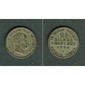 Preussen 2 1/2 Silber Groschen 1864 A  ss+