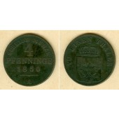 Preussen 4 Pfenninge 1850 A  f.ss  selten