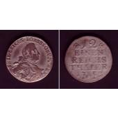 Preussen 1/12 Taler (Doppel-Groschen) 1752 C  f.ss