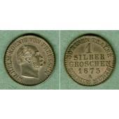 Preussen 1 Silber Groschen 1873 A  vz-st