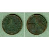 Preussen 1 Pfenning 1860 A  ss