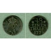 Preussen 1/48 Taler 1779 A  ss+