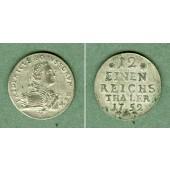 Preussen 1/12 Taler 1752 A  f.vz  selten!