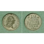 Preussen 1/12 Taler 1764 A  ss