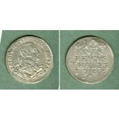 Preussen 1/12 Taler 1755 C  f.vz  selten