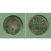 Preussen 1/12 Taler 1765 B  s/ss