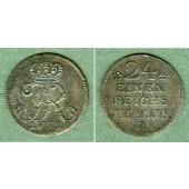 Preussen 1/24 Taler 1752 A  f.vz