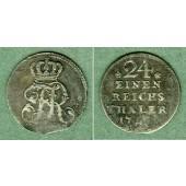 Preussen 1/24 Taler 175x (1754 C)  ss