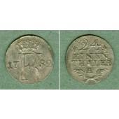 Preussen 1/24 Taler 1782 A  vz-st