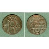 Preussen 1/24 Taler 1783 A  ss