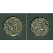 Sachsen 1/12 Taler (Doppel-Groschen) 1763 IFoF  ss