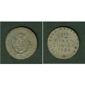 Sachsen 1/12 Taler (Doppel-Groschen) 1822 IGS  ss/ss+