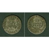 Sachsen 1/12 Taler (Doppel-Groschen) 1710 EPH  ss