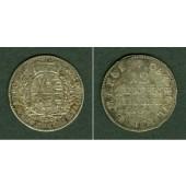 Sachsen 1/12 Taler (Doppel-Groschen) 1764 EDC  ss-vz