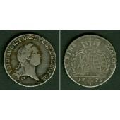 Sachsen 2/3 Taler (Gulden) 1772 EDC  f.ss