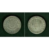 Sachsen 1/12 Taler (Doppel-Groschen) 1812 SGH  ss