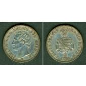 Sachsen 1/6 Taler 1861 B  vz