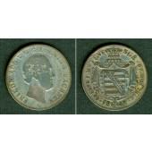 Sachsen 1/6 Taler 1842 G  f.ss