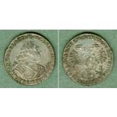 Sachsen 1/24 Taler (Groschen) 1740 VIKARIAT  ss