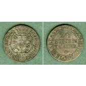 Sachsen 1/24 Taler (Groschen) 1763 FwoF  ss+