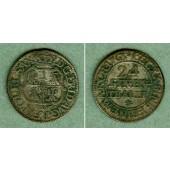 Sachsen 1/24 Taler (Groschen) 1763 EDC  ss+