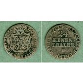 Sachsen 1/24 Taler (Groschen) 1763 EDC  f.ss