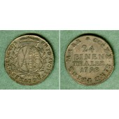 Sachsen 1/24 Taler (Groschen) 1798 IEC  ss+/ss