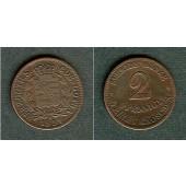 Sachsen Coburg und Gotha 2 Pfennige 1851 F  vz-/vz