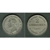 Sachsen Coburg und Gotha 2 Groschen 1865 B  f.vz/vz-stgl.