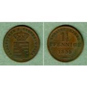 Sachsen Coburg und Gotha 1 1/2 Pfennige 1835  ss
