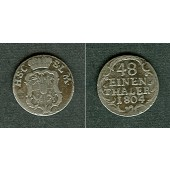 Sachsen Coburg Saalfeld 1/48 Taler 1804  ss  selten