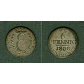 Sachsen Coburg Saalfeld 6 Pfennig 1808  f.ss  selten