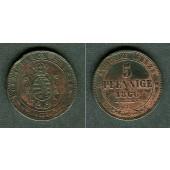 Sachsen 5 Pfennige 1866 B  vz-  selten!