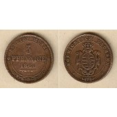 Sachsen 5 Pfennige 1866 B  f.ss  selten!