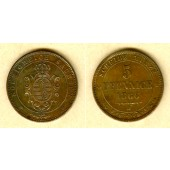 Sachsen 5 Pfennige 1866 B  vz  selten!